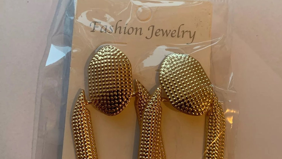 Gold big earring