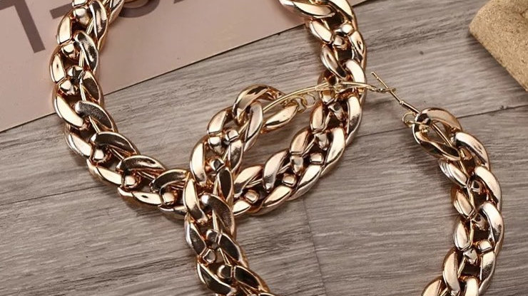 Big Gold hoop earrings