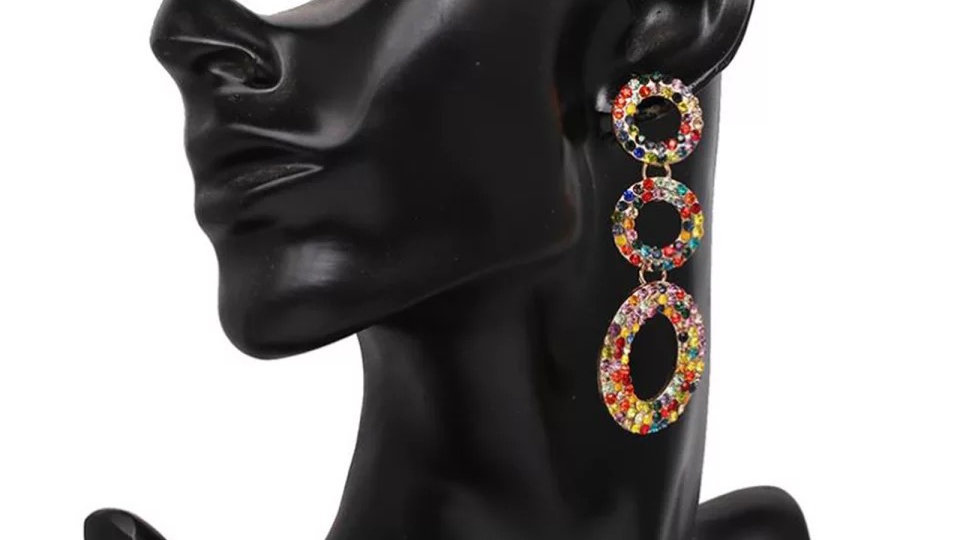 Multicoloured earring