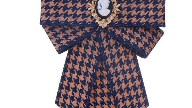 brown check ribbon