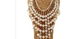Pearl bold necklace set