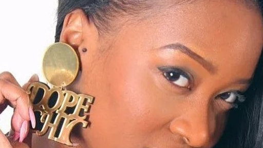 Gold earrings dope chic earring