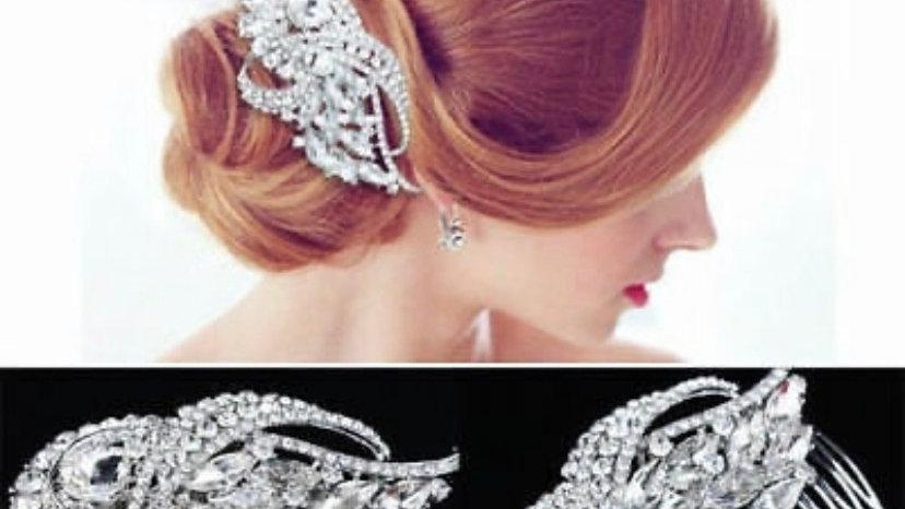 Silver bridal hair accessories