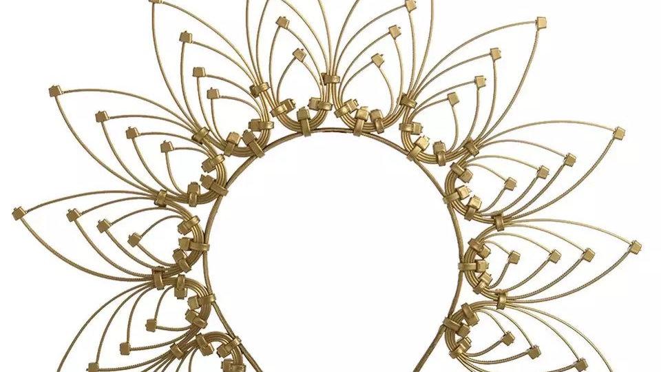 Gold head band