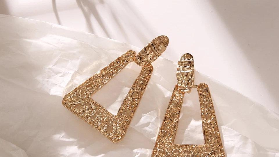 Big gold earring