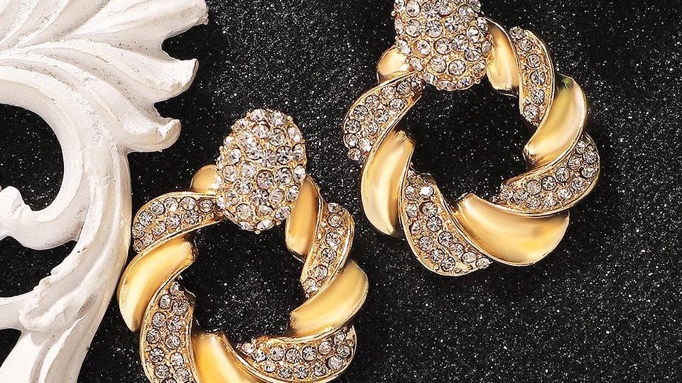 Gold with silver diamanté stones