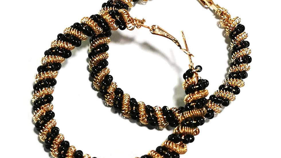 Gold and black hoops