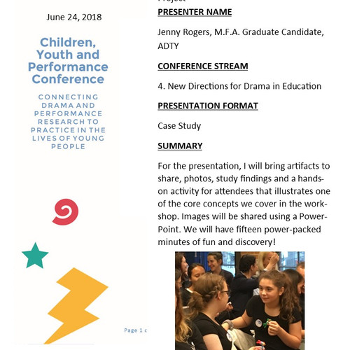 2018 Young People's Theatre Conference