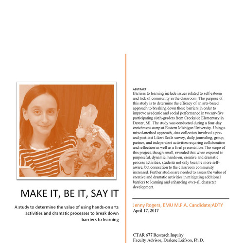 Research: Make it, Be it, Say it