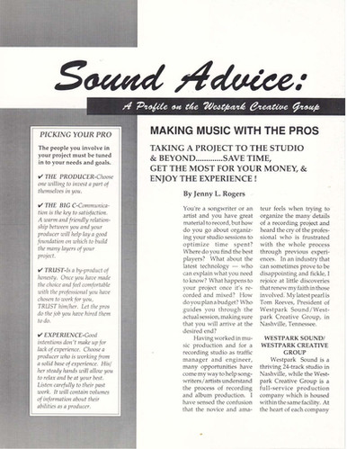 Sound Advice article