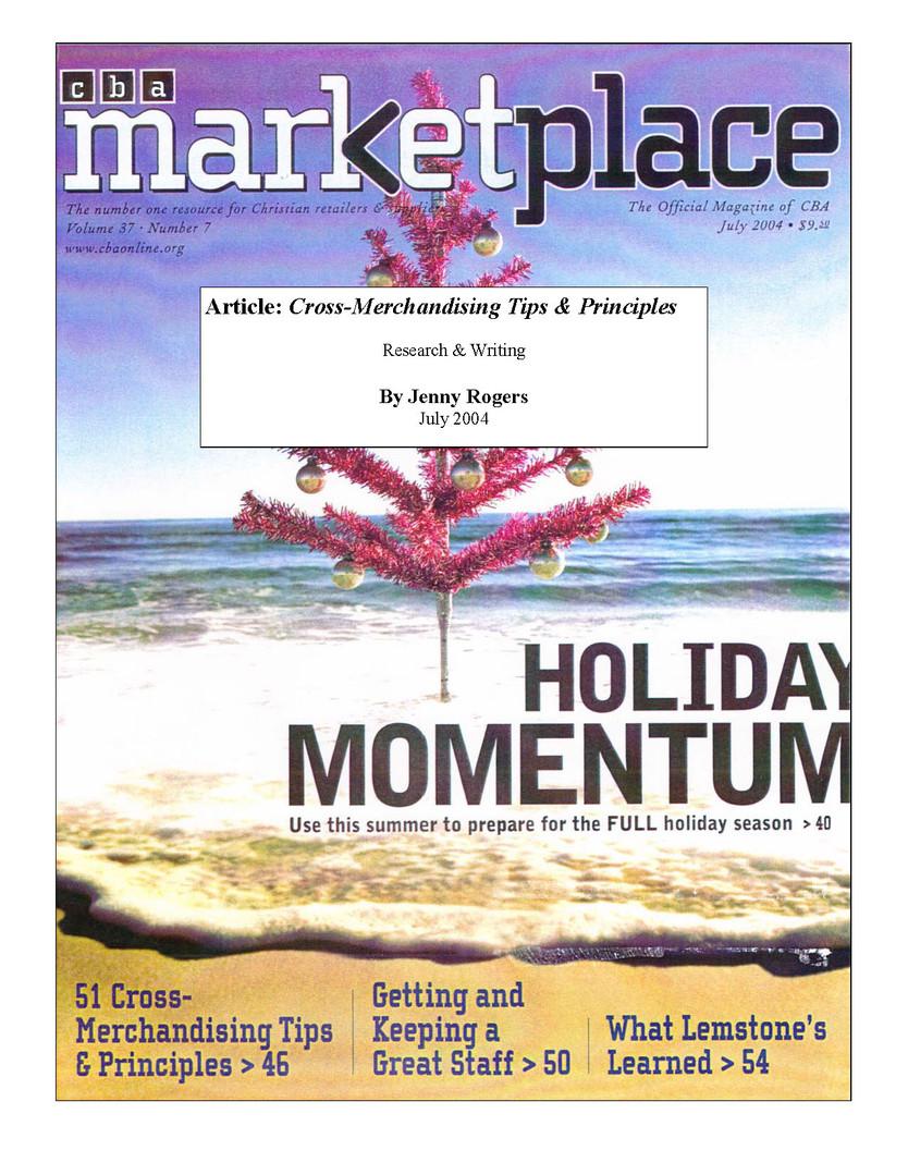 CBA Marketplace-Trade magazine