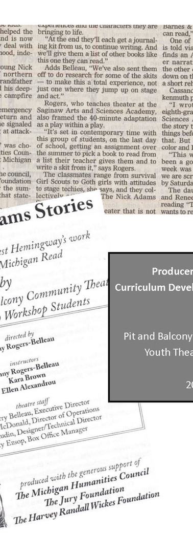Pit & Balcony Summer Theatre Program