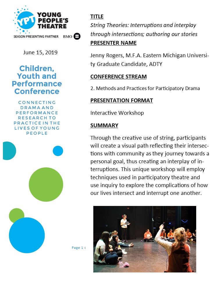 2019 Young People's Theatre Conference