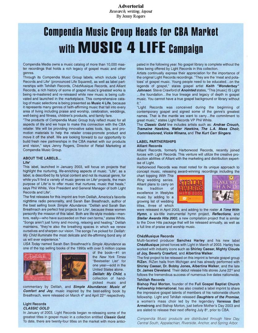 Music 4 Life Campaign