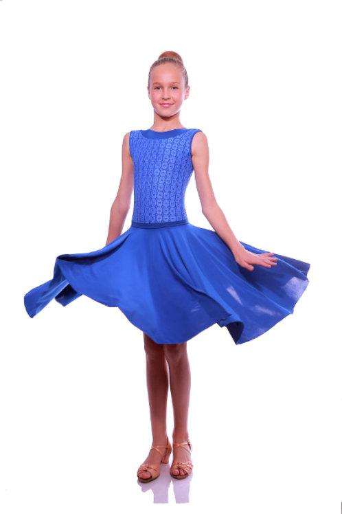 Платье рейтинговое без рукавов с регилином
