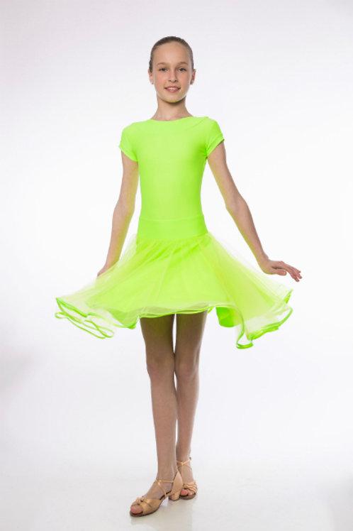 Платье рейтинговое с сеточкой и регилином