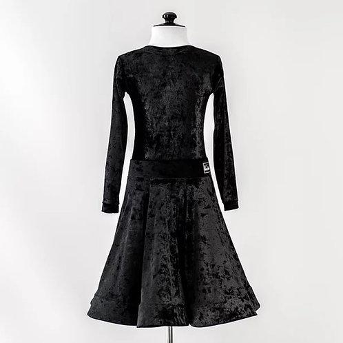 Рейтинговое платье чёрный бархат