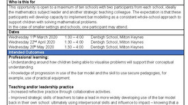 Session One - 11th March 2020 - IN19-01                  KS1/2: Bar Modelling to develop children&#3