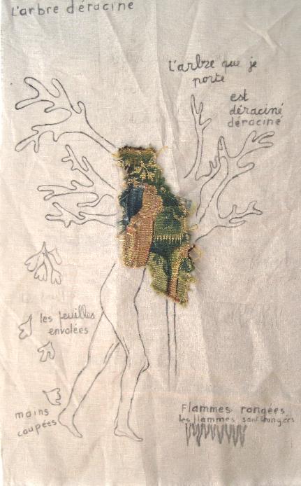 3 - L'arbre déraciné 65 x 109 cm