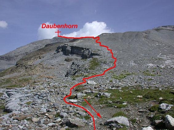 Rückweg Klettersteig Daubenhorn