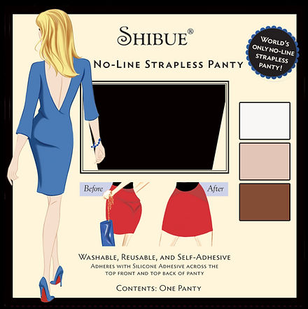 Shibue No-Line Strapless Panty, panty, no lines, invisible underwear, no show underwear