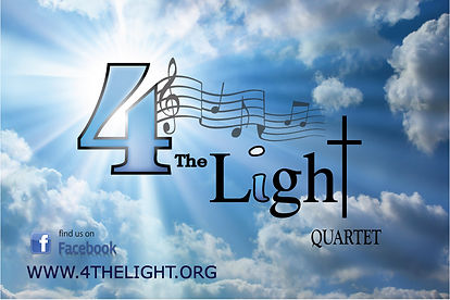 4 The Light SOuthern Gospel Quartet Logo.  4 The Light Sings Old Time SOuthern Gospel Classics and Hymns in Churches Revivals Festivals and Fairs throughout Indiana.