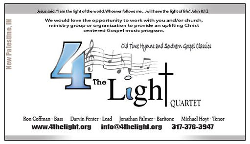 4 The Light Quartet Tour Dates Central Indiana Southern Gospel