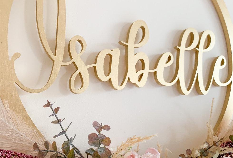 Personalised Name Hoop- Jasmine Design