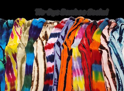 Tie dye bamboo socks by @StarhawkDesignStudio