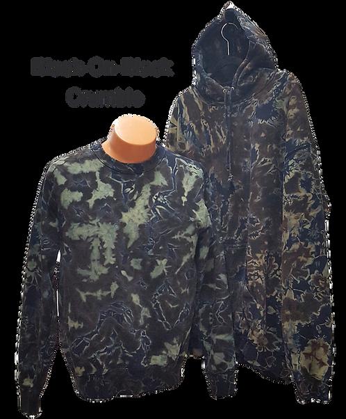 Black-On-Black Crumble Sweatshirt/Hoodie ($40+up)