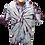 Men's Tie Dye Button Down short sleeve shirt by @StarhawkDesignStudio