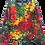 Rasta Crumble Tie Dye Sweatshirt by @StarhawkDesignStudio