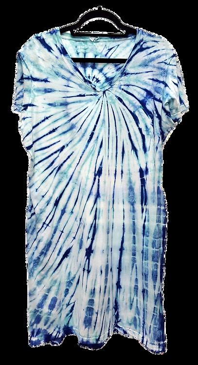 Tie dye women's tee dress by @StarhawkDesignStudio