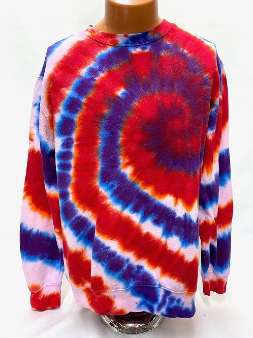 Tie dye sweatshirts and hoodies @StarhawkDesignStudio