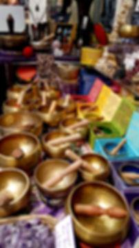 Metal and Tibetan Singing Bowls at Starhawk Design Studio in Greenpoint Brooklyn NYC