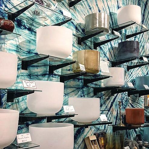 Crystal Singing Bowls at Starhawk Design Studio in Greenpoint Brooklyn NYC