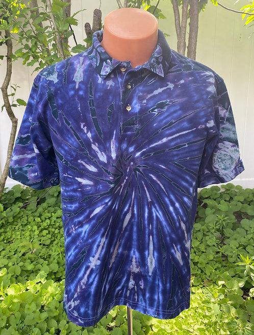 Men's tie-dye polo shirt by @StarhawkDesignStudio