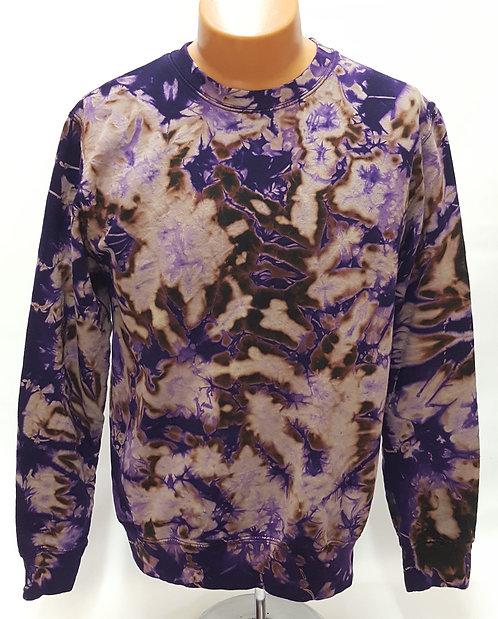 Purple-On-Black Crumble Sweatshirt/Hoodie ($40+up)