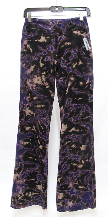 Purple-On-Black Crumble Yoga Pants ($45+up)