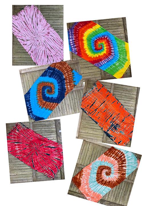 100% organic cotton tie-dyed Turkish spa blanket @StarhawkDesignStudio