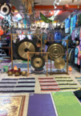 Sound Bath at Starhawk Design Studio in Greenpoint Brooklyn NY with Jarek Luk - Gongs, Singing Bowls, Chimes, Tie Dye