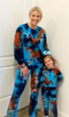 Cosmic Blues tie dye set by Starhawk Design Studio