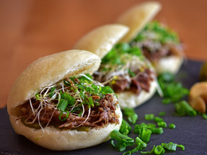 Pulled Beef Chuck Roast in Steamed Buns