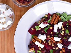Beets with Feta Cheese Salad