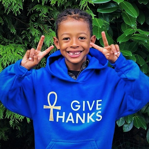 """Give Thanks""Ankh Hoodie"