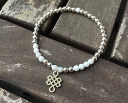 White Jade with 'Eternal Knot'