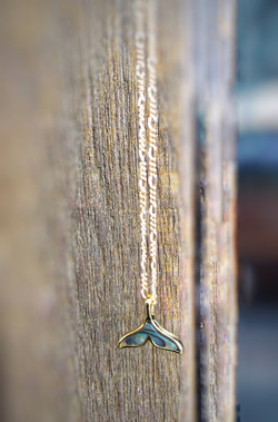 The Mother of Pearl / 18k gold plated Whale Tail