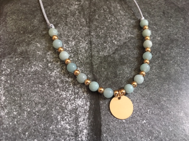 The Amazonite & 14k gold filled bead