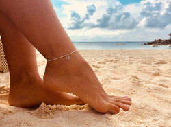 The 2mm 925 Sterling silver anklet