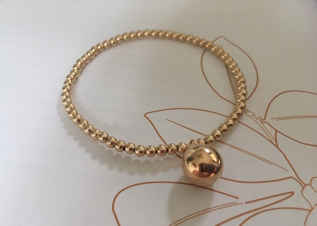 14k gold filled sphere charm